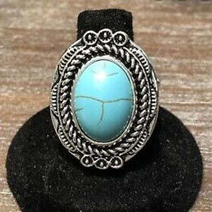"""Tumblin' Tumbleweeds"" - VINTAGE Blue Stone Ring"